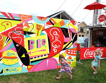 Bentonville Coca Cola Mural