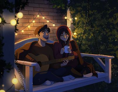 Cozy Night Painting