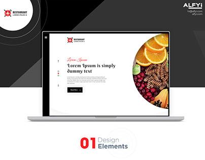 Restaurant Web Design | UI Design | Website | Hotel