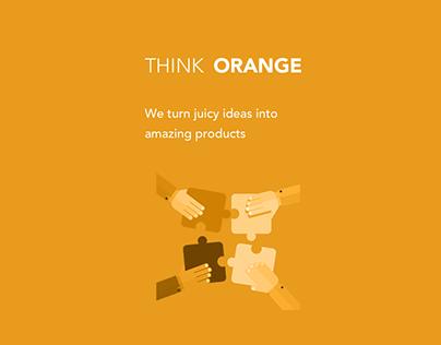 ThinkOrange - Login Page Design