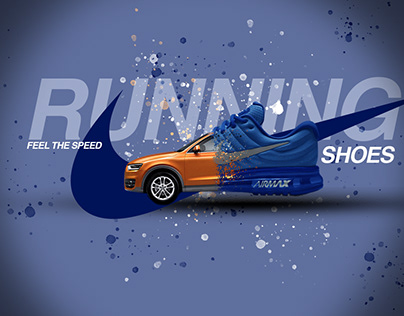 Shoes Advertisement Poster   Gradient BG  
