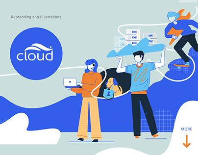 Cloud MSG rebranding and UI illustration