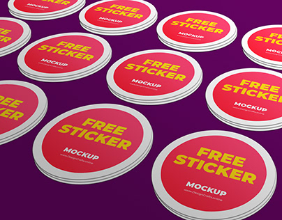STICKER MOCKUP FREE PSD DOWNLOAD