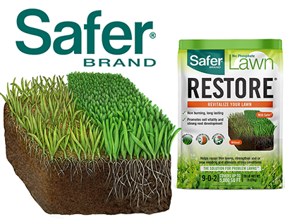 Step By Step Lawn Illustration for Safer Brand