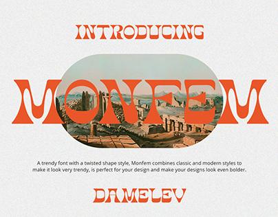 Monfem Typeface
