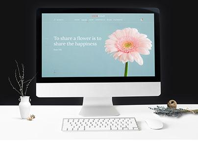 Главный экран для сайта цветов