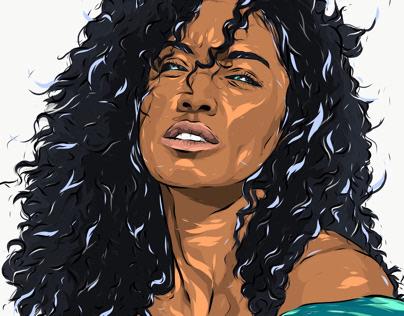 Adobe DRAW : Unknown portrait series - Jade