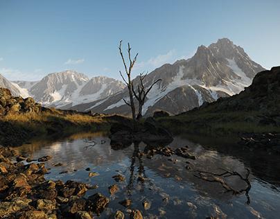 Mountain Lake - CGI