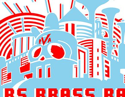 NO BS Brass 18 x 12 poster