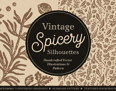 Vintage Spicery Silhouettes