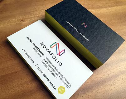 Nouvelle identité & matériel de communication_Novafolio