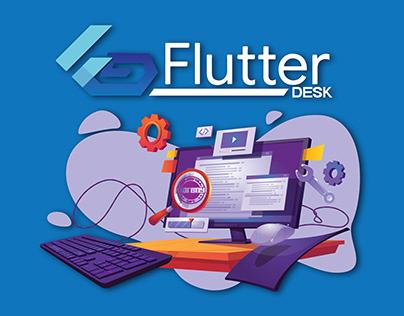 LOGO DESIGN FOR FLUTTER DESK
