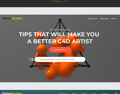 Using Cinema 4D Renders to make Website Headers.