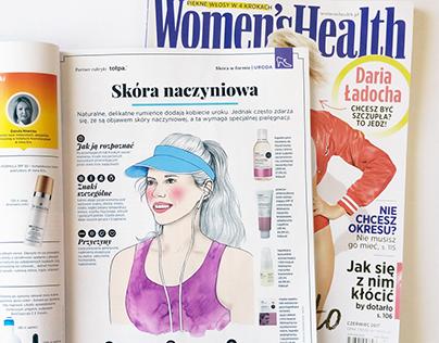 "Ilustracje do magazynu ""Women's Health"""