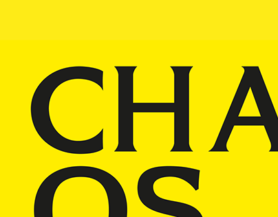 """""""Chaos"""" skriftdesign prosjekt"""