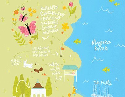 Niagara Parks - Visitors Guide Map Illustration