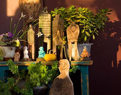 wood sculpture, handmade