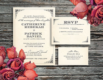 Wedding Invitations: Catie + Patrick