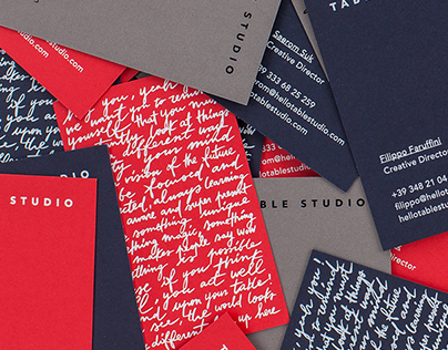 Table Studio business cards