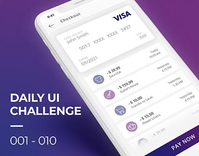 Daily UI Challenge 01 - 10
