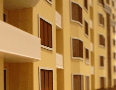 Model of a residential complex in Shymkent city
