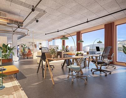 Coworking space interior project, Ålesund, Norway
