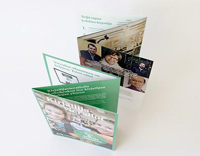 Kirjailijavierailut -brochure / esite