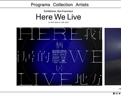 Poster + GIF / Here We Live Exhibition / 2019