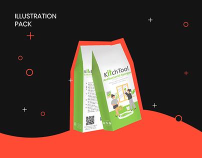 Illustration pack for kitchtool