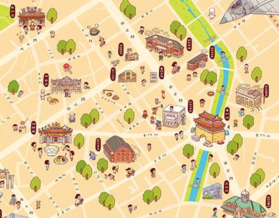 見域新竹舊城散步地圖