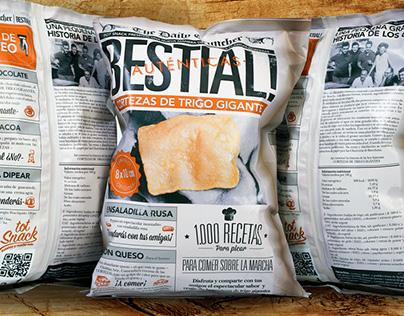 """Disseny bossa de """"cortezas gigantes"""" per Tot snack"""