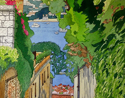 'Alleyway on the Riviera' - France