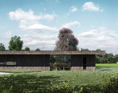 Modułowy budynek rekreacyjny - Wiślica (Skoczów)