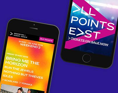 All Points East Festival: Website Design