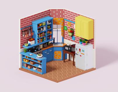 Voxel Kitchen from Friends