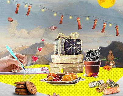 Collage illustration done for Diwali