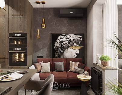 Однокомнатная квартира в современном стиле