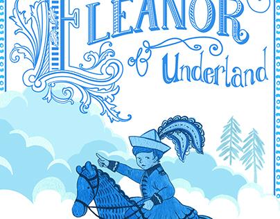 Eleanor of Underland - Poster in Blue