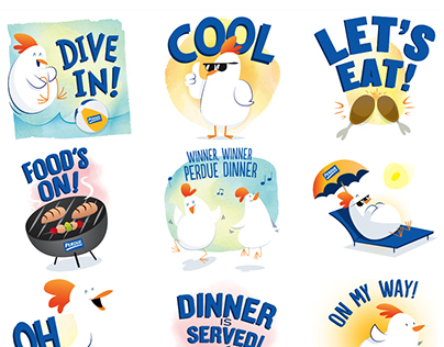 Perdue Summer Chick-mojis