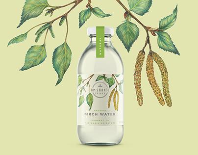 Om Shanti Drinks - Birch Water Labels