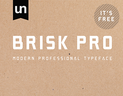 Brisk Pro Typeface - Free Download