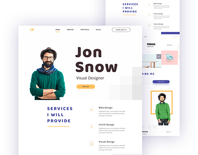 Jon Snow Personal Portfolio Concept