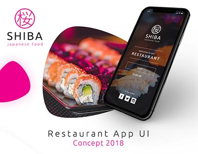 Shiba - Restaurant App Mobile Ui