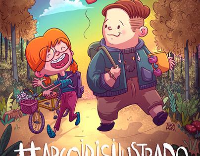 Arco iris ilustrado
