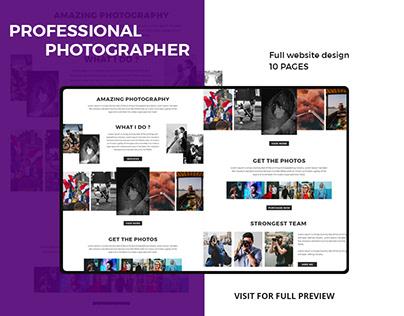 Professional Photographer website