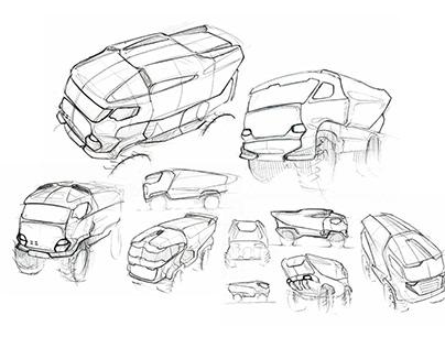 Truck DAKAR sketches