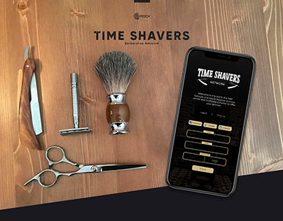 Time Shavers. Site, App & Logo