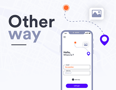 Other Way - GPS App interface