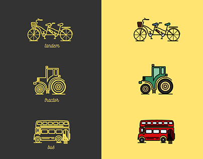 Means of Transportation Icons