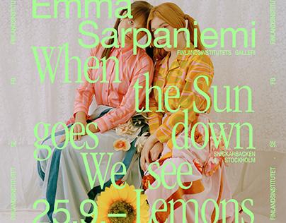 Emma Sarpaniemi exhibition posters